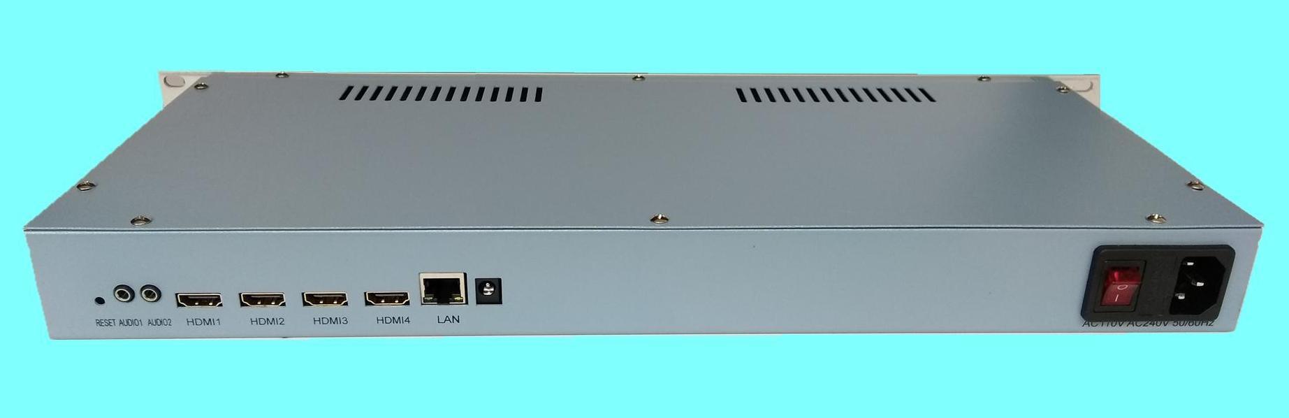 也可以独立音频编码输出;支持无视频信号编码,如果不接hdmi信号,只接